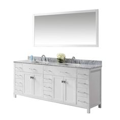 Inspired by this collection, the vanity offers a clean sleek structure with abundant storage. The vanity is constructed from quality solid oak wood and finished in classic espresso or white color. This collection also features an italian carrara white marble countertop and a matching backsplash. This vanity will be a great striking centerpiece to any bathroom design. The Manufacturer has taken the initiative by changing the vanity industry and adding soft closing doors and drawers to their…