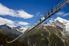 Zermatt longest pedestrian brigde