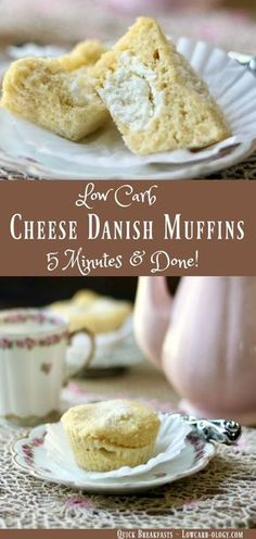 This low carb cheese danish muffins recipe means breakfast is no longer boring. Quick, easy, and delicious, these muffins have about 3 net carbs each.From http://Lowcarb-ology.com via @Marye at Restless Chipotle