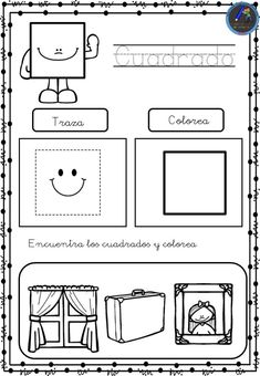 Numbers Preschool, Preschool Art, Math Literacy, Preschool Activities, Shapes Worksheet Kindergarten, Teaching Shapes, Spanish Lesson Plans, Teaching Spanish, Kids Education