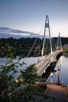 Suspension bridge in Finland