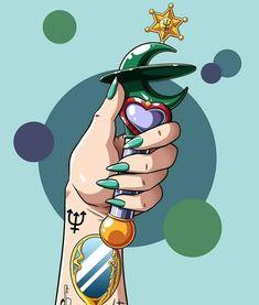 Sailor Neptune, Sailor Moom, Sailor Saturn, Sailor Moon Art, Neptune Tattoo, Tattoo Collection, Sailor Moon Drops, Moon Names, Sailor Moon Wallpaper