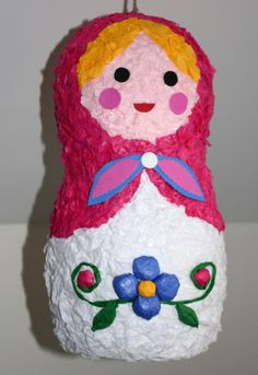 CUSTOM Matryoshka Doll Pinata Birthday Party Handmade Party Decor Babushka Bridal Quinceanera Russian Flower Dress by PoppinPinatasandmore on Etsy https://www.etsy.com/listing/228447873/custom-matryoshka-doll-pinata-birthday