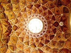 architecture as art[ipeinture]  From the ceiling of hast bahesht, isfahan, iran by amett, via Flickr