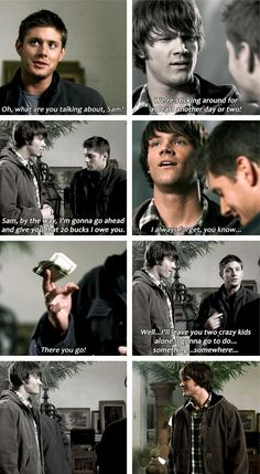 2x19 Provenance [gifset] - Dean, trying to be a helpful brother. XD - Sam & Dean Winchester, Supernatural