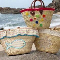 Take a look at these New beach straw bags In my etsystore!