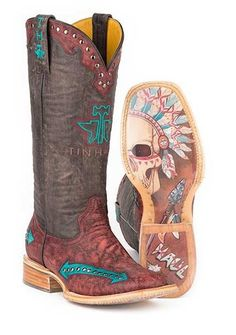 Tin Haul Women's Arrowhead Chief Western Cowgirl Boots - 14-021-0007-1282 RE
