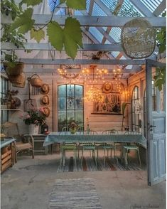Gazebos and Garden Sheds For Enjoying Your Garden in Style Outdoor Garden Rooms, Indoor Garden, Outdoor Spaces, Outdoor Gardens, Outside Living, Outdoor Living, Dream Garden, Home And Garden, Garden Shed Interiors