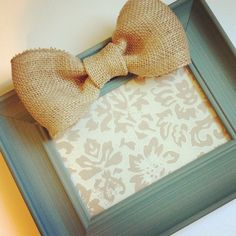 Painted Picture Frame Idea.... With Burlap Bow Would Look Good With An Initial In The Middle....