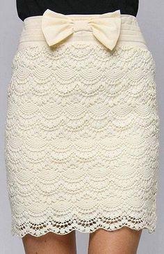 Lace crochet skirt - gorgeous (Узоры крючком in Russian)