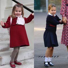 Princess Charlotte first day of nursery school and now 2019 first day of school Prince William Family, Prince William And Kate, William Kate, King Queen Prince Princess, Princess Kate, Little Princess, Duchess Kate, Duke And Duchess, Duchess Of Cambridge