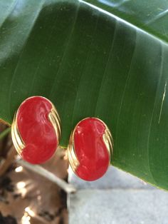Vintage Cherry Red Earrings by LeFringeCollection on Etsy