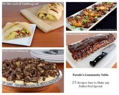 Parade's Community Table ~ 25 Recipes Sure to Make any Father Feel Special