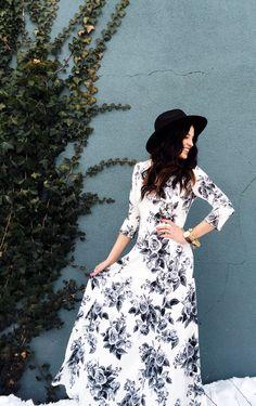 Floral Dress! Too Cute!