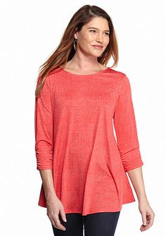 New Directions® Shirred Sleeve Swing Top