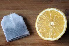 Fenster putzen mit schwarzem Tee und Zitrone
