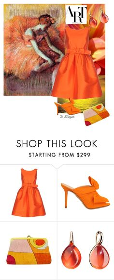 """""""Degas"""" by deborah-strozier ❤ liked on Polyvore featuring P.A.R.O.S.H., Charlotte Olympia, Emilio Pucci, Pomellato, summerdate and rooftopbar"""