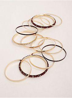 Multi Gemstone Textured Bangle Set in Metallic Bangle Set, Bangle Bracelets, Plus Size Bracelets, Affordable Plus Size Clothing, Gold Texture, Ruby Red, Torrid, Plus Size Fashion, Gold Rings