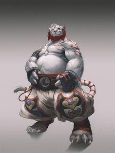 Anthro Tiger 2, FOX 00 on ArtStation at https://www.artstation.com/artwork/anthro-tiger-2