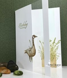 It's Masculine Monday -- Wetlands Window Birthday Card and Video