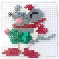 Christmas mause hama perler beads