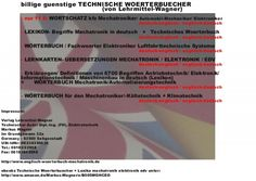 for translators, engineers, and technical writers: dictionaries electrical engineering automotive automobile engineering german english