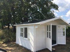 Záhradný domček Dávid 4 x 3 m - bielo šedá kombinácia.  Od WoodSK Shed, Outdoor Structures, Barns, Sheds