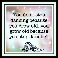 Cierto! a mi me encanta bailar así sea sola en casa :)