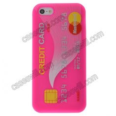 Credit Card Style Silicon Soft Case for iPhone 5 - Pink US$2.59