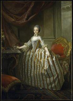 """""""Maria Luisa of Parma"""" Laurent Pecheuz French  1765"""
