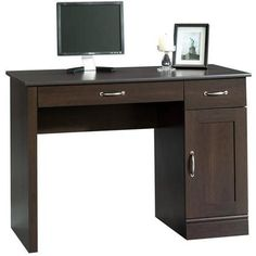 Sauder Parklane Collection Computer Desk, Cinnamon Cherry - Walmart.com