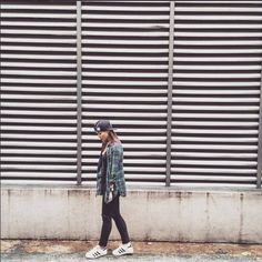 "Anne Curtis-Smith on Instagram: ""Boyish. Top: @topshop Flannel Cap: @kitsonla Jeans: Saint Laurent Sneakers: @adidasoriginals @adidasph #ANNEsemble #AnneCStyle"""