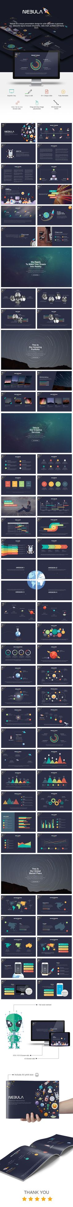 Nebula Keynote Presentation Template #design #slides Download…