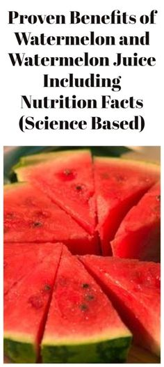 Proven Benefits of Watermelon and Watermelon Juice Including Nutrition Facts (Science Based) Healthy Eating Recipes, Healthy Drinks, Healthy Tips, Watermelon Benefits, Mouth Watering Food, Most Popular Recipes, Weight Loss Drinks, Alternative Health, Health Advice