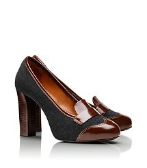 Love the menswear meets sophisticated women's shoe look with great details.