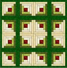 patchwork log cabin patrones gratis - Buscar con Google