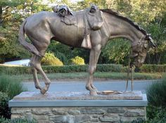 Civil War monument dedicated to all the horses lost -- Fort Riley, Kansas {You always think about the soldiers, nice to see the horses recognized, too}