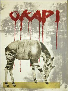 'OKAPI' Drypoint on paper 72 X 52cm 2016 Okapi, Lovers Art, Modern Contemporary, Artworks, Moose Art, Decor Ideas, Paper, Animals, Animales