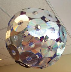 CD Light Ball Pendant - will def use on my back porch in the Spring to keep the birds away.