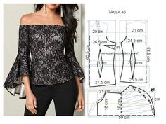 Patrón y costura : blusa con manga de capa asimétrica Diy Talla Patrón y costura : blusa con manga de capa asimétrica Diy Talla 46 Source by VEJA MAIS , Dress Sewing Patterns, Blouse Patterns, Clothing Patterns, Blouse Designs, Pattern Sewing, Loom Patterns, Fashion Sewing, Diy Fashion, Ideias Fashion