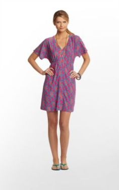 Meg Dress in Snorkel Blue Hold Your Horses $118 Lilly Pulitzer