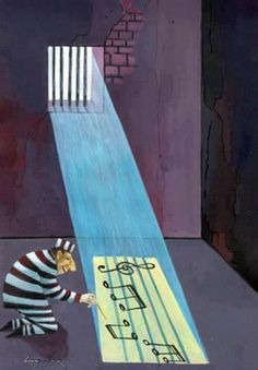 Music can release us from our self-imposed prisons.and open us to a whole new world. ~☮~ Image thanks to: Classical Music Humor)) Humor Musical, Musik Wallpaper, Art Music, Music Lyrics, Music Jokes, All About Music, Psychedelic Art, Classical Music, Music Stuff