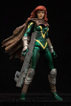 this is the hasbro Marvel Legends Terrax Series Hope Summers she is a great figure to add to your x-men students or modern x-men collection happy pinning