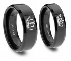 Men's King Black Tungsten Ring