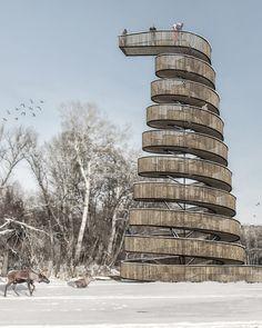 observation tower design - gözlem kulesi tasarımı - parametric design -parametric architecture Parametric Architecture, Parametric Design, Architecture Portfolio, Landscape Architecture, Landscape Design, Architecture Design, Architecture Diagrams, Lookout Tower, Tower Design