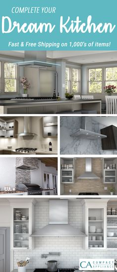 Upgrade your appliances, range hoods, and everything else you could need for your dream kitchen!