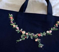 Flowers on navy