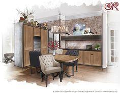 Дизайн кухни в современном стиле. Фото http://www.ok-interiordesign.ru/ph17_kitchen_interior_design.php