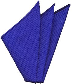 Royal Blue Grenadine Silk Pocket Square #14