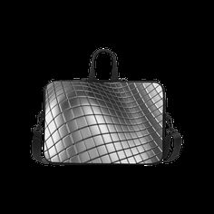 3D Silver Chrome Cubes Laptop Handbags 15""